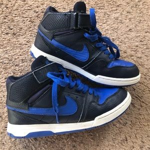 Navy and royal blue nike SB sneakers, 4.5Y